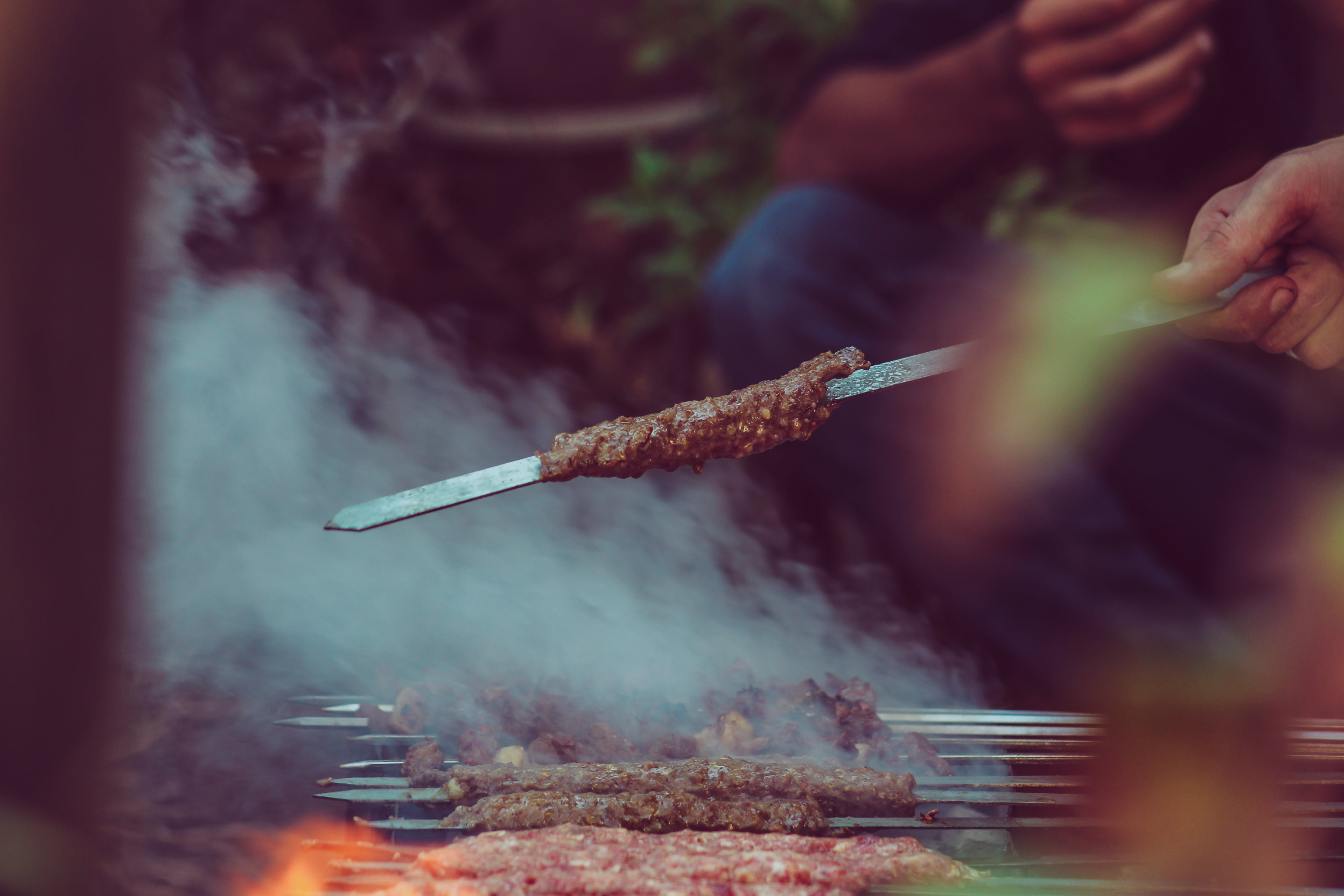 Person Holding Barbecue