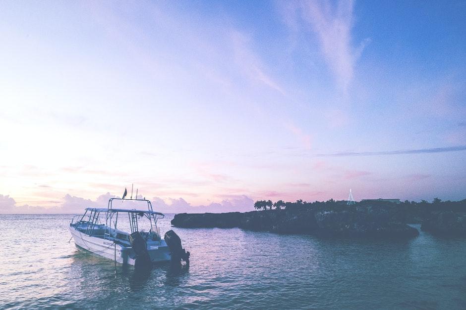 beach, boat, clouds