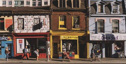 Fotobanka sbezplatnými fotkami na tému architektúra, budovy, centrum mesta, chodník