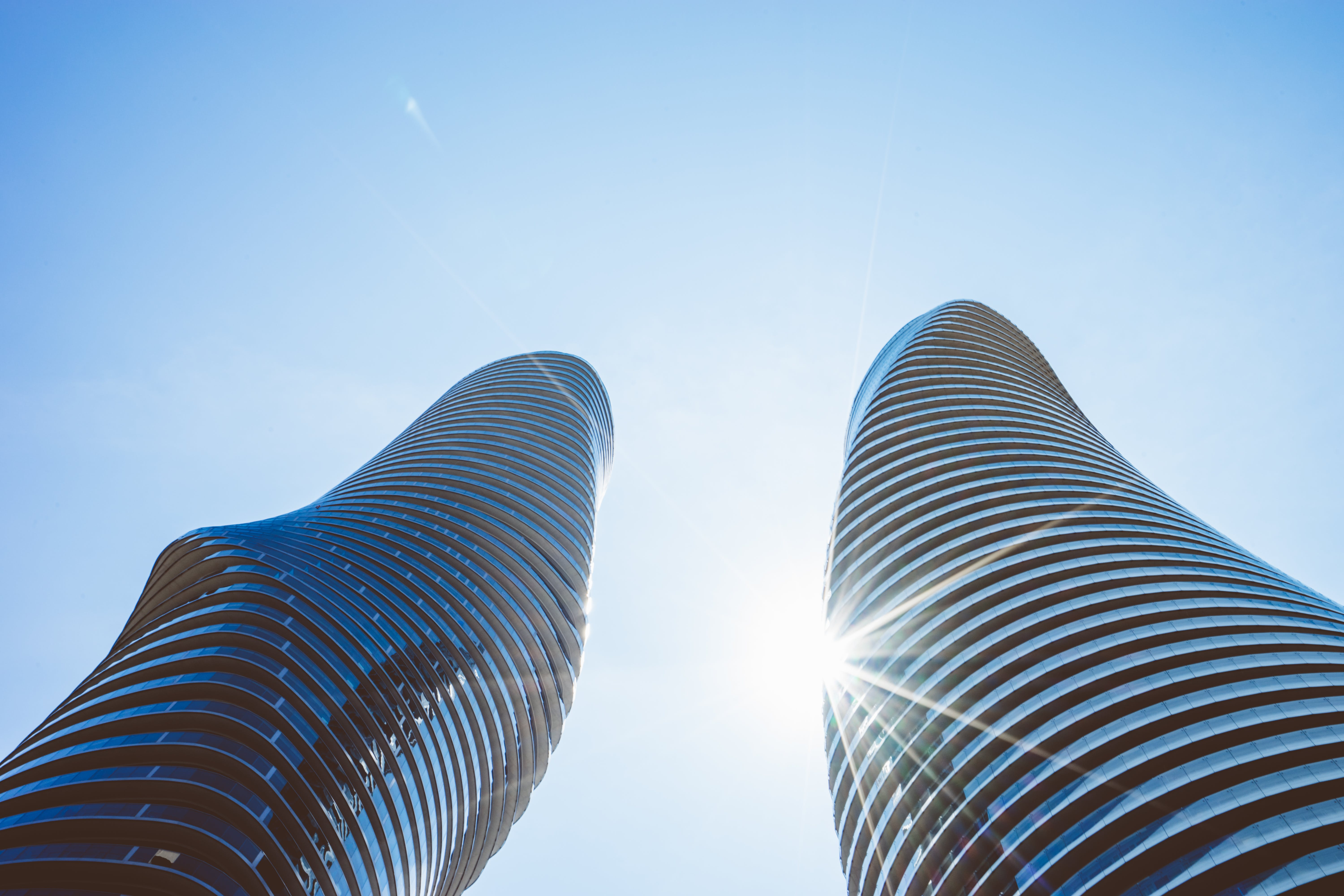 Low Angle Photo of Two High Rise Buildings