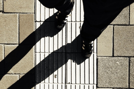 Free stock photo of street, pattern, shoes, stones