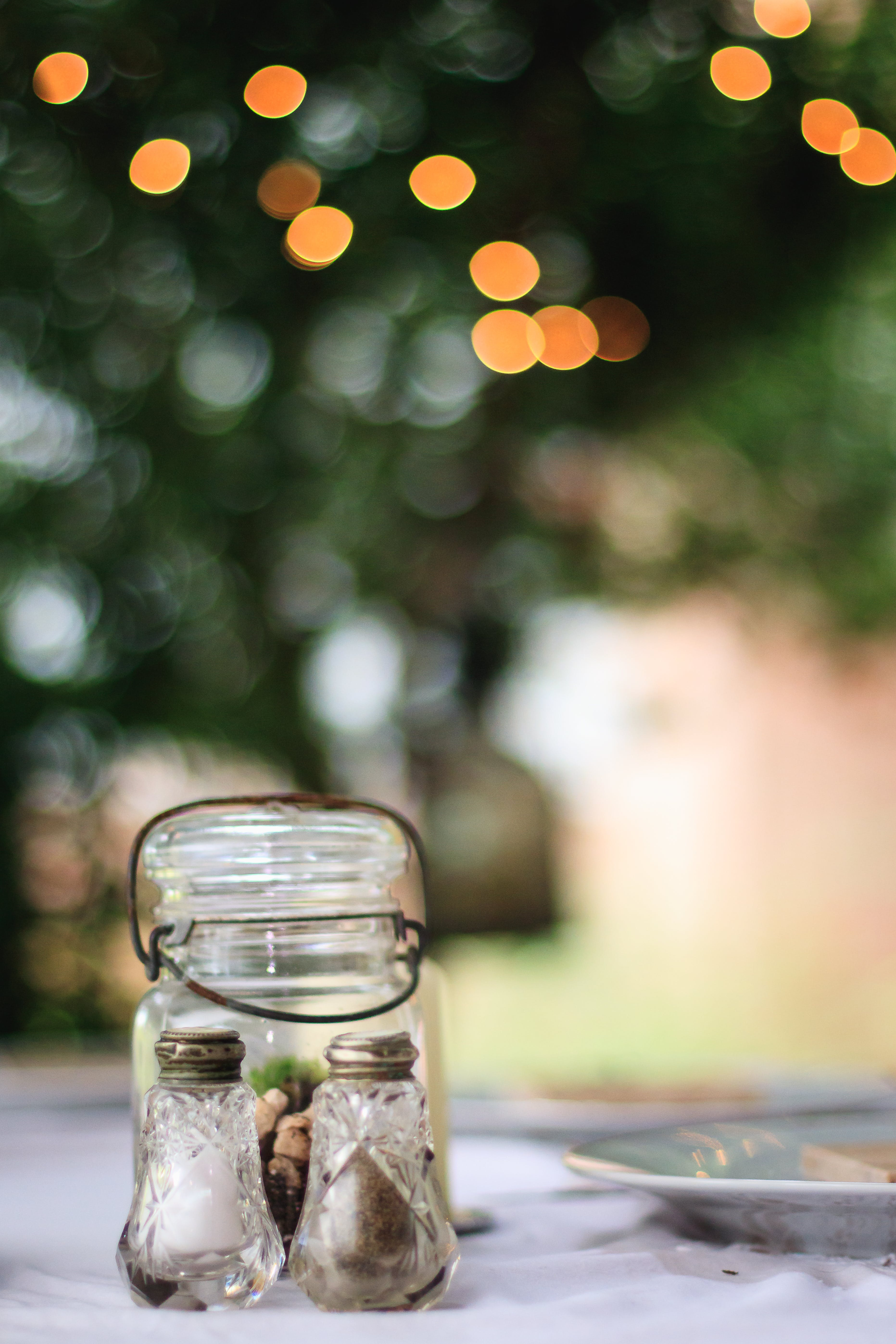 Clear Glass Canister