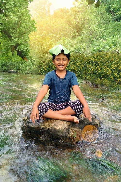 Kostnadsfri bild av indisk flicka, rolig