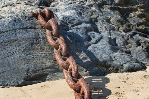 Free stock photo of #beach, #chain, #metal