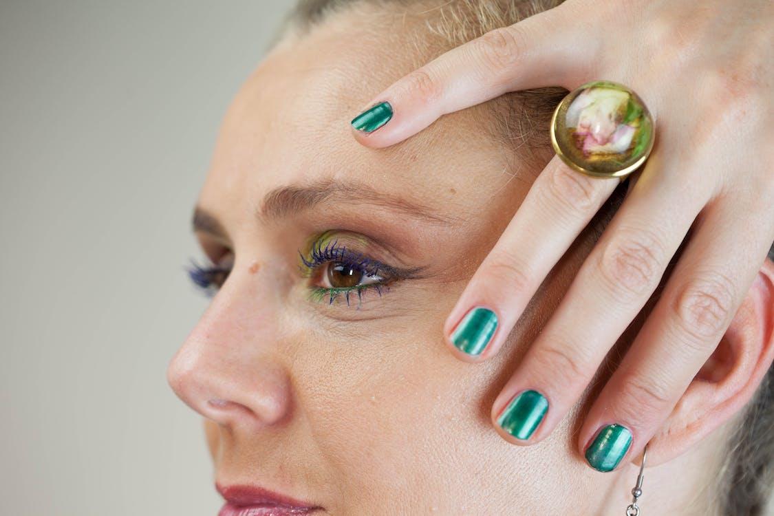 behandling, glamour, hånd