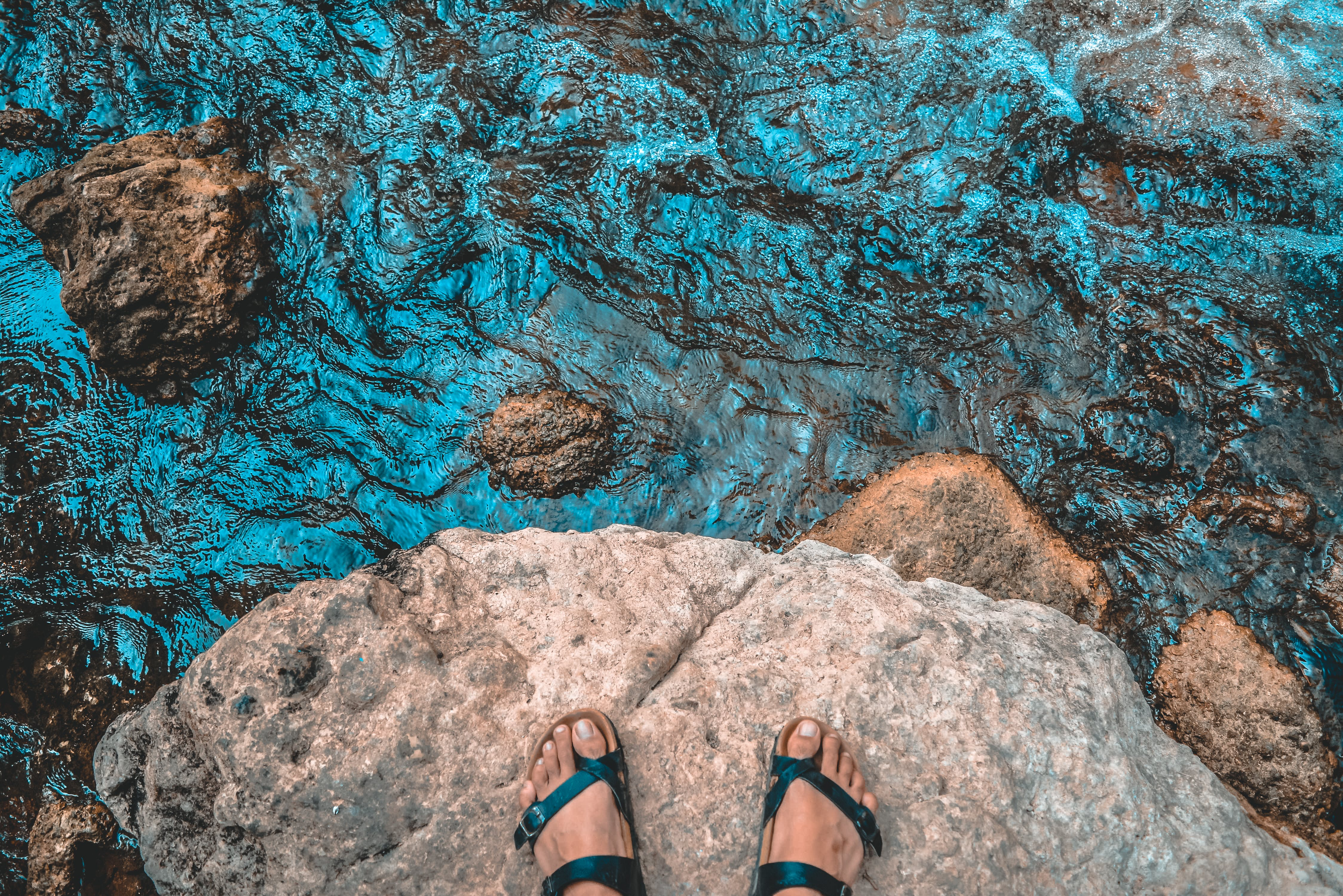 Free stock photo of #outdoorchallenge, adventure, blue water, footsteps