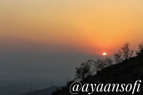 Kostnadsfri bild av #nature #sunset #beauty #canon #kashmir #travel