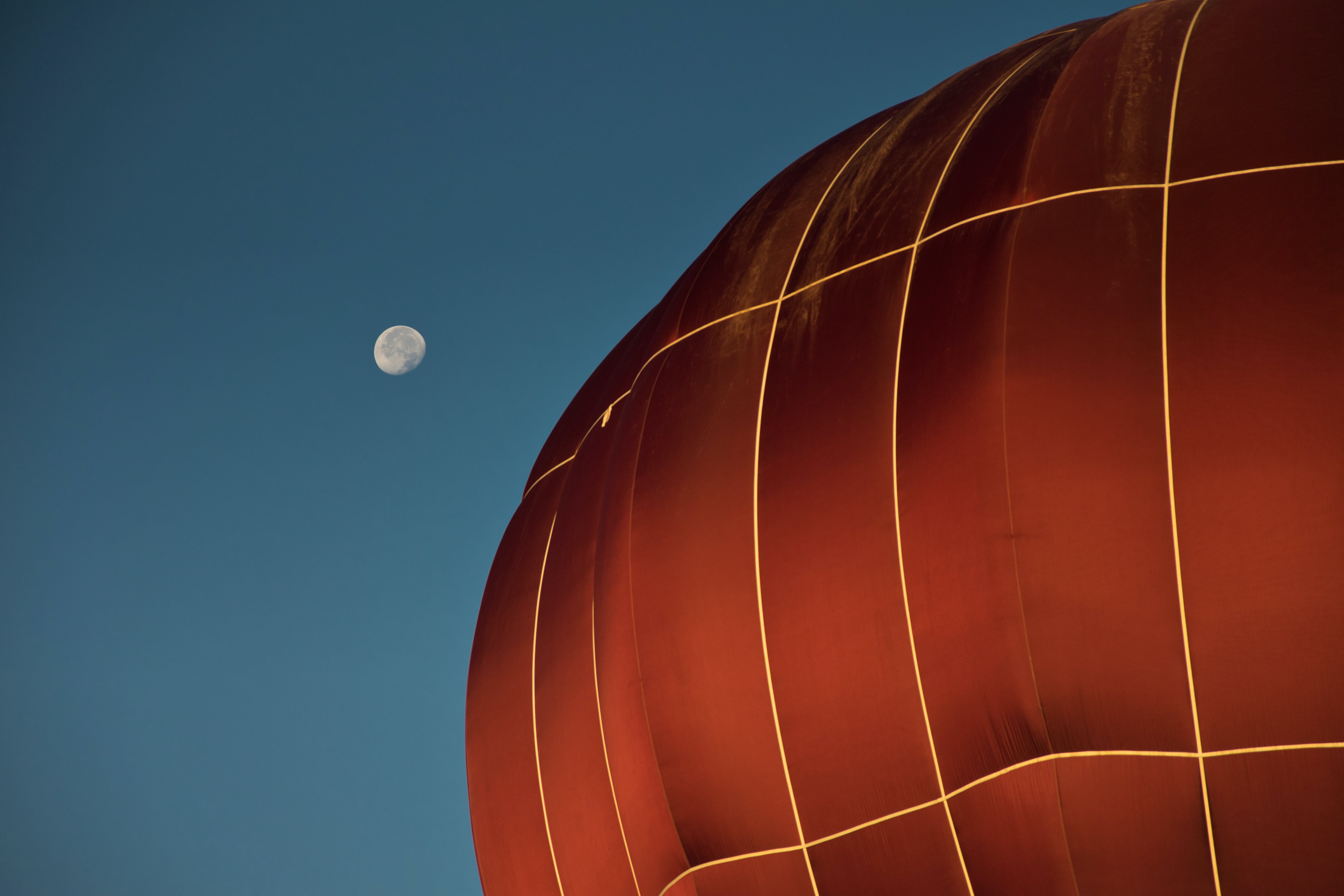 Close-up Photo of Red Hot Air Balloon