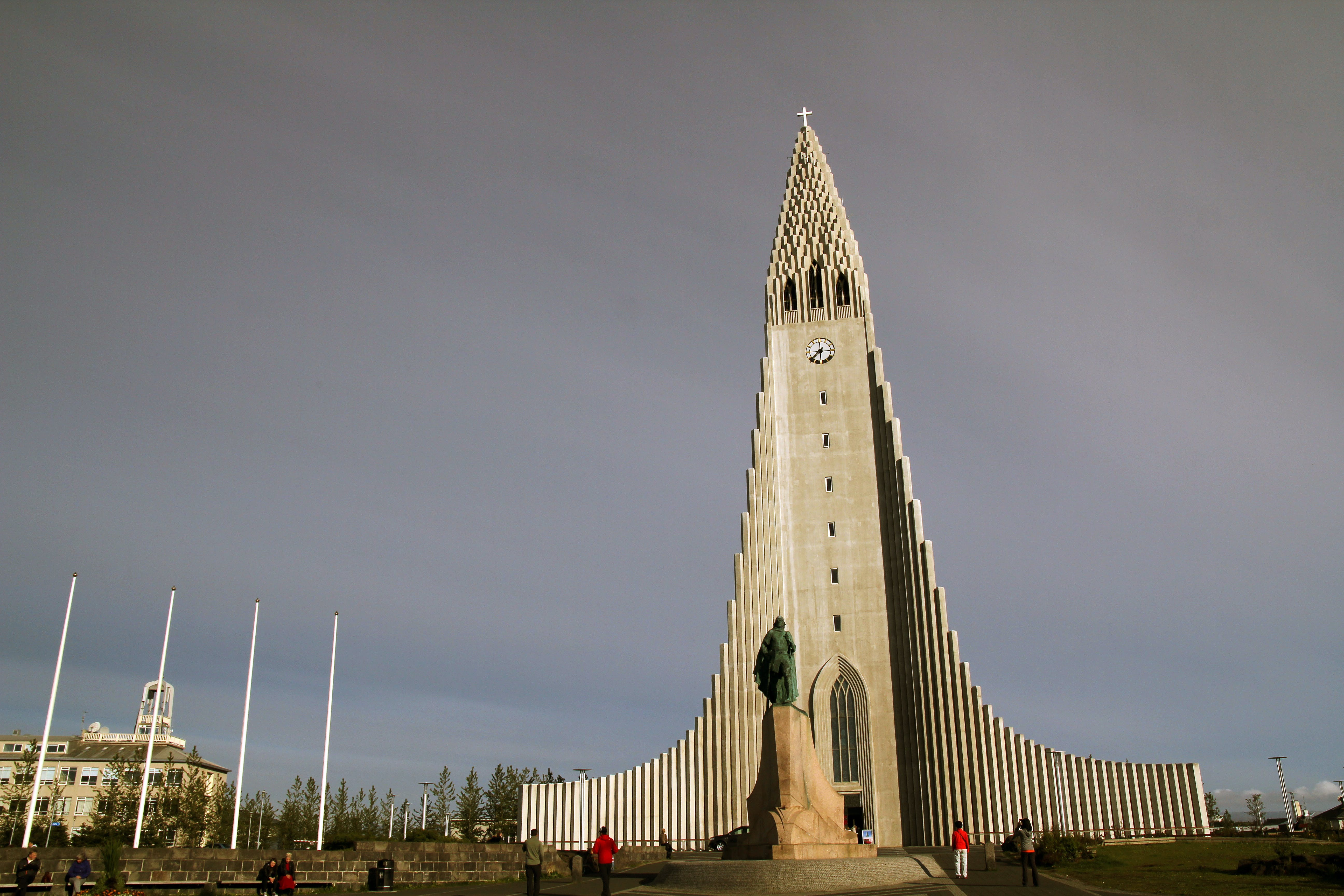 Free stock photo of church, colors, conrete, iceland
