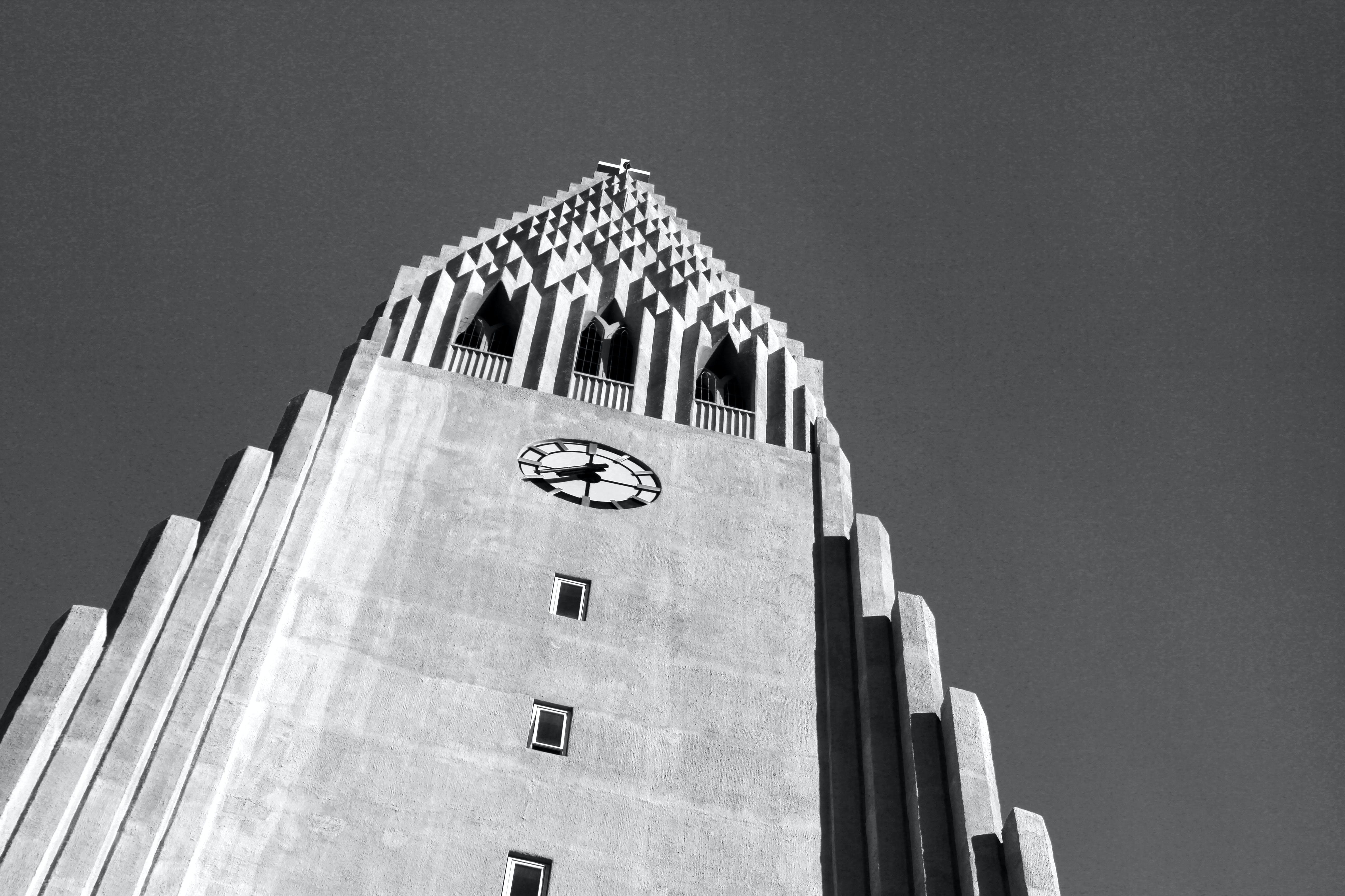 Free stock photo of b&w, black and white, church, concrete