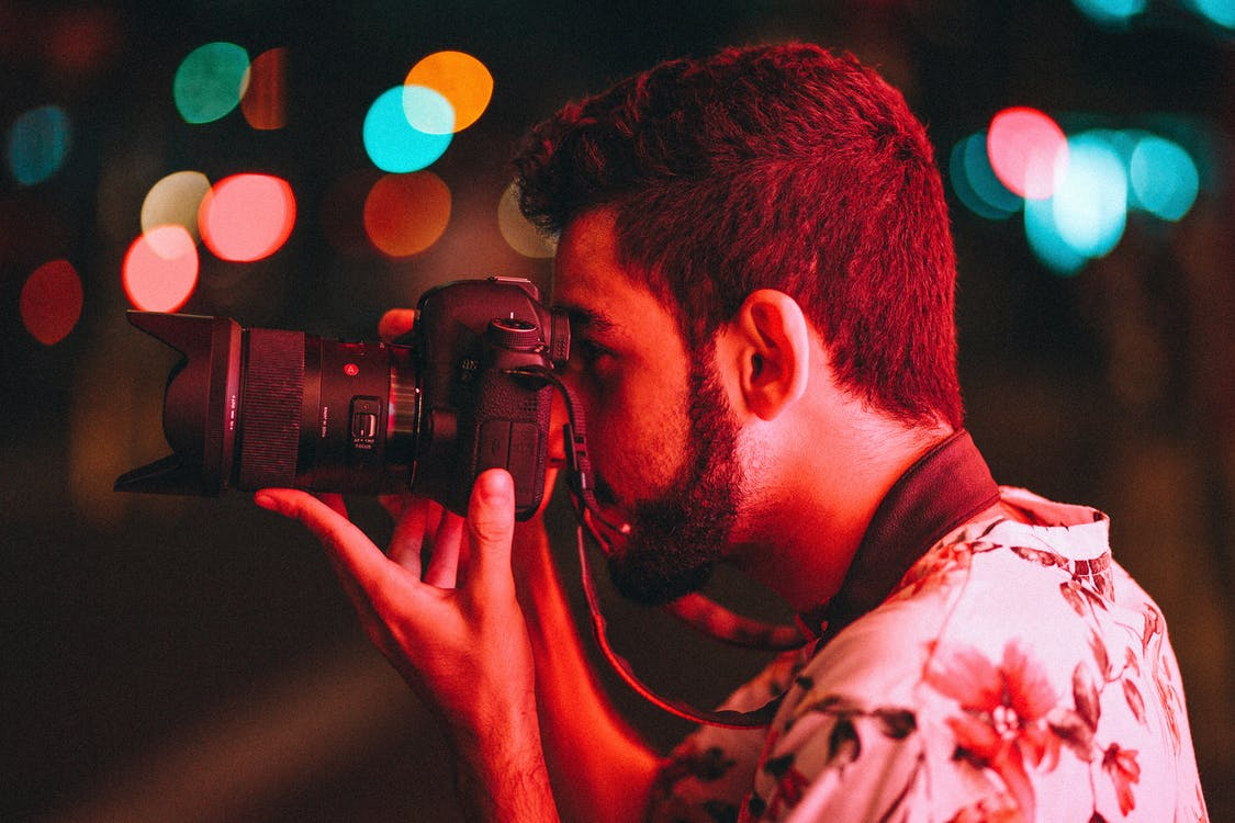 fotograf, mand, person