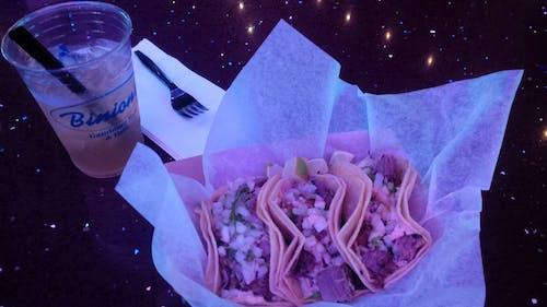 Free stock photo of beer, binions, Las Vegas, Tacos