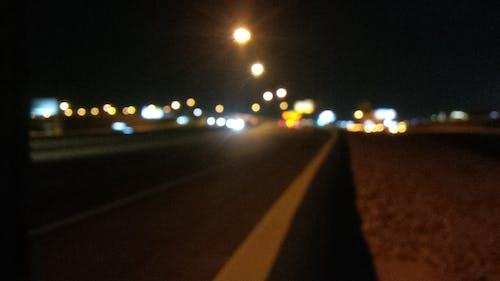 Free stock photo of background, freeway, highway, night