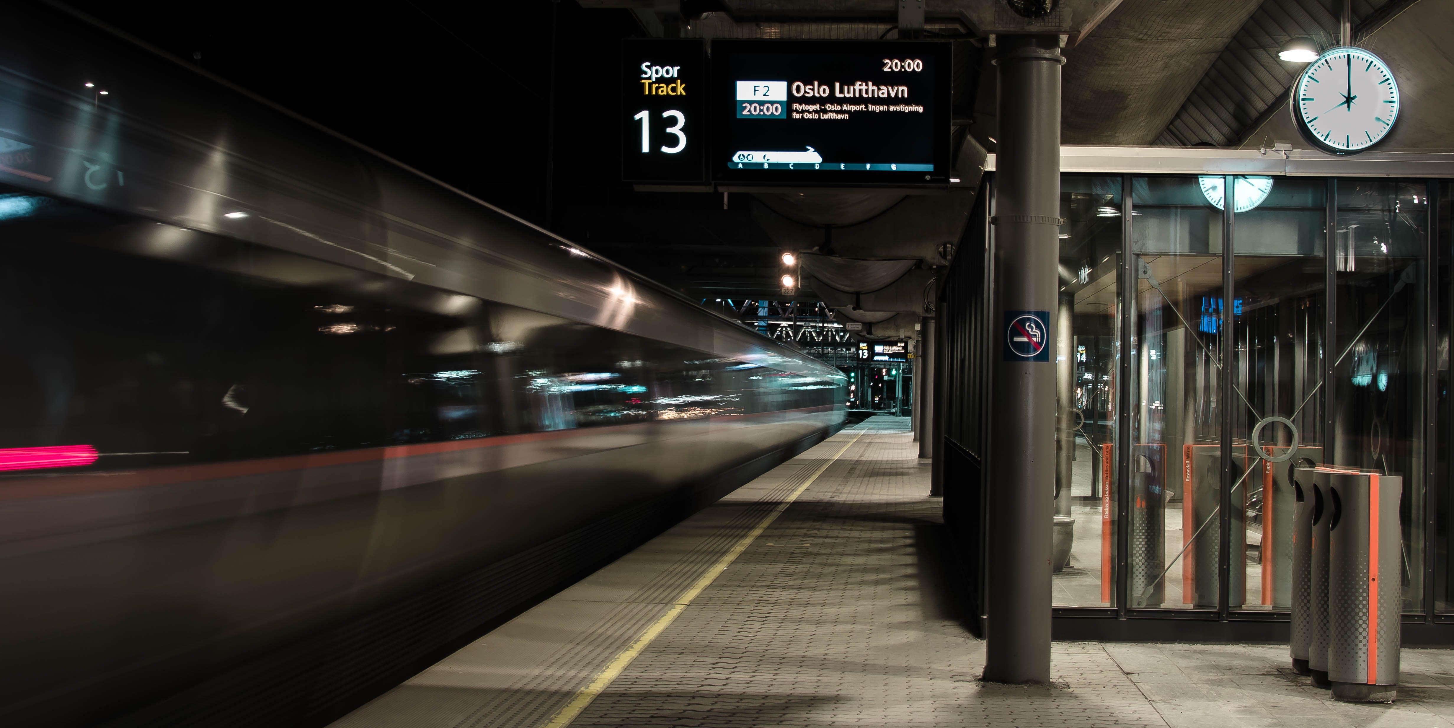Free stock photo of norway, oslo, train station