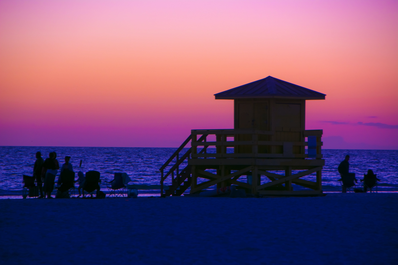 Free stock photo of Sunset at beach