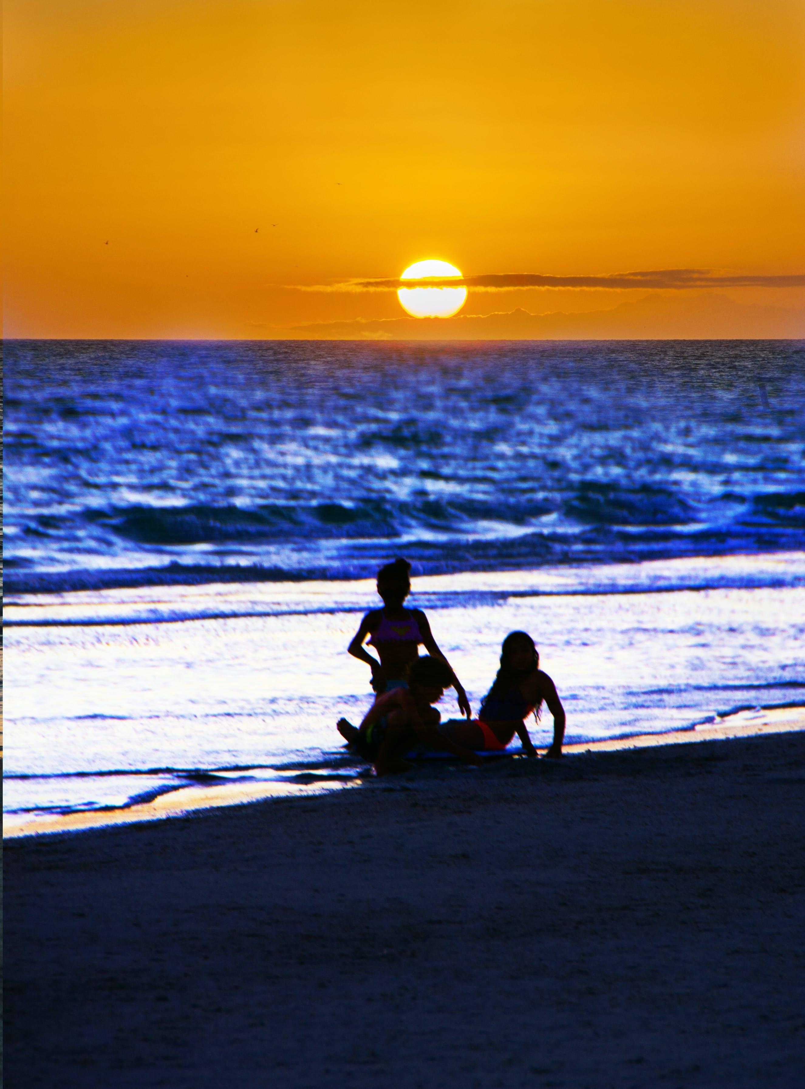 Free stock photo of sunset view at beach