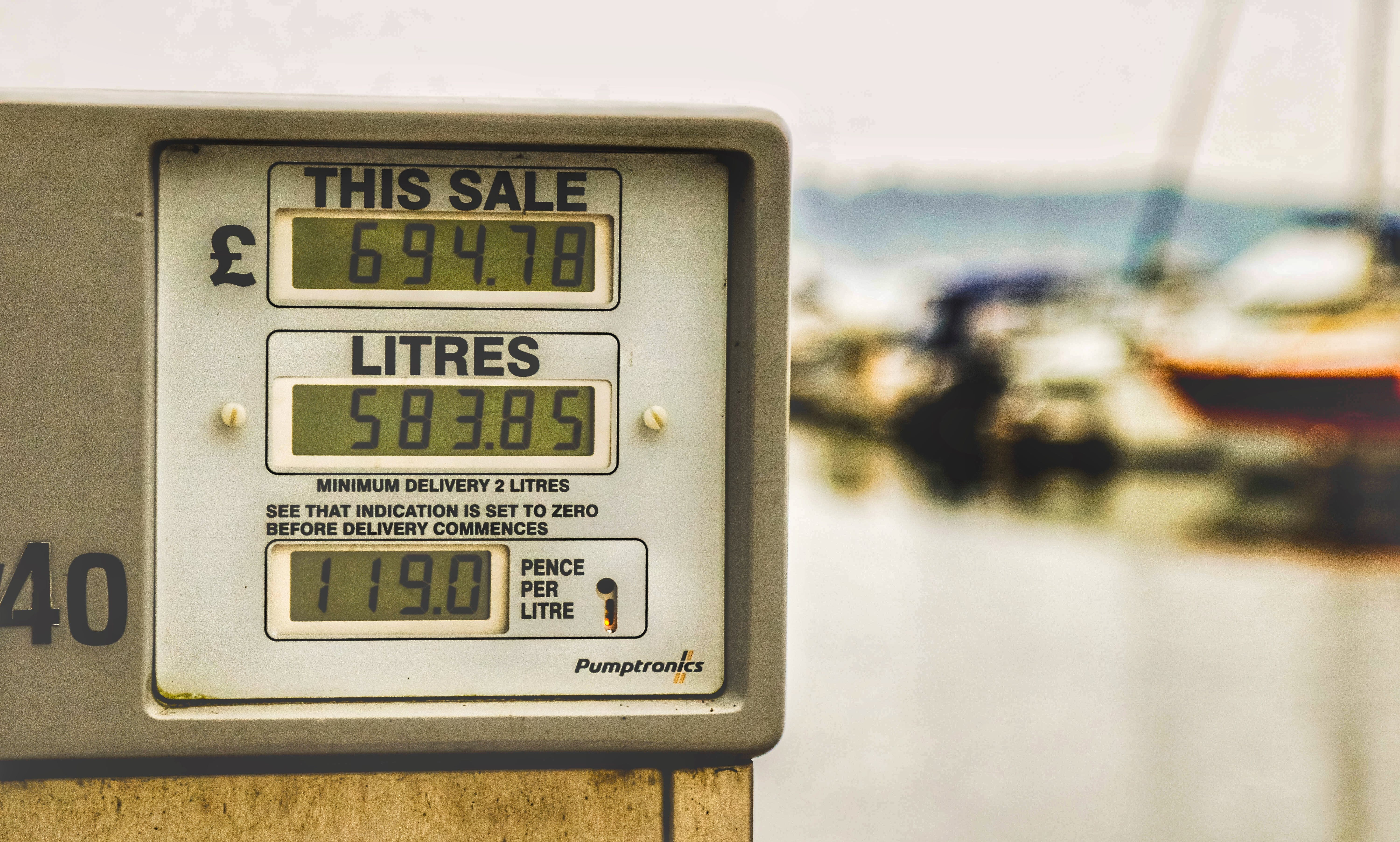 Selective Focus Photography of Fuel Station