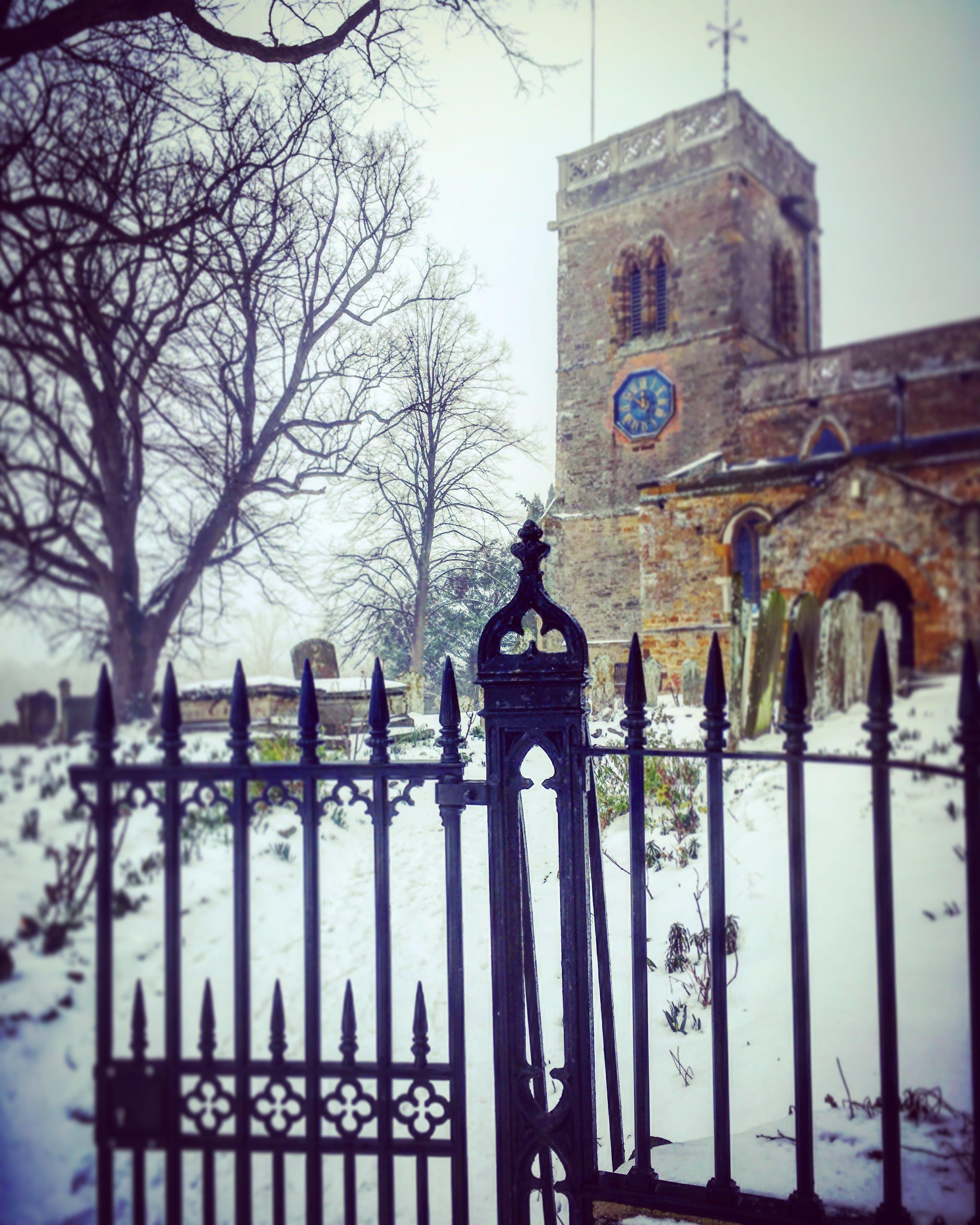 Free stock photo of Snowy church