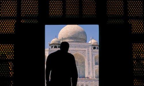 Foto d'estoc gratuïta de arquitectura, disseny arquitectònic, meravella del món, Taj Mahal