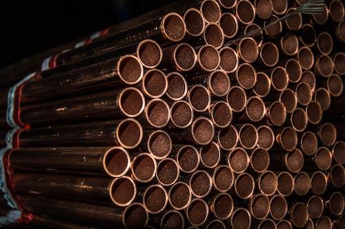 Free stock photo of barrel, black, canalization, copper