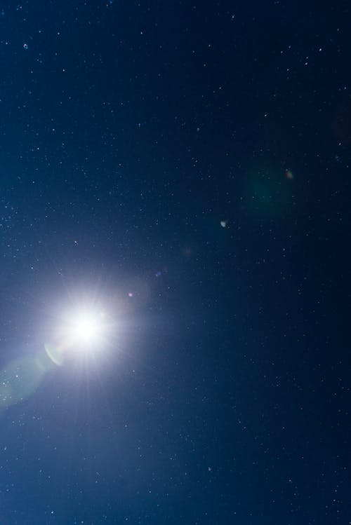 Free stock photo of lens flare, moon flare, night sky, stars