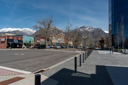 Free stock photo of Historic Downtown Provo, Mountain Town, Mountains Downtown, Small Town Mountains