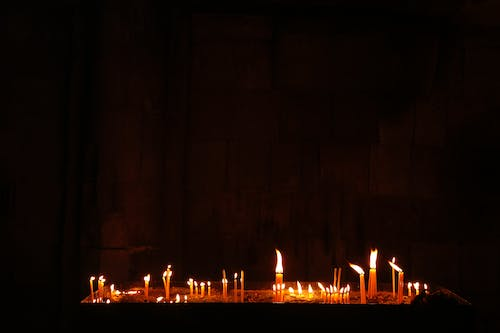 Free stock photo of armenian church, candles, candles burning