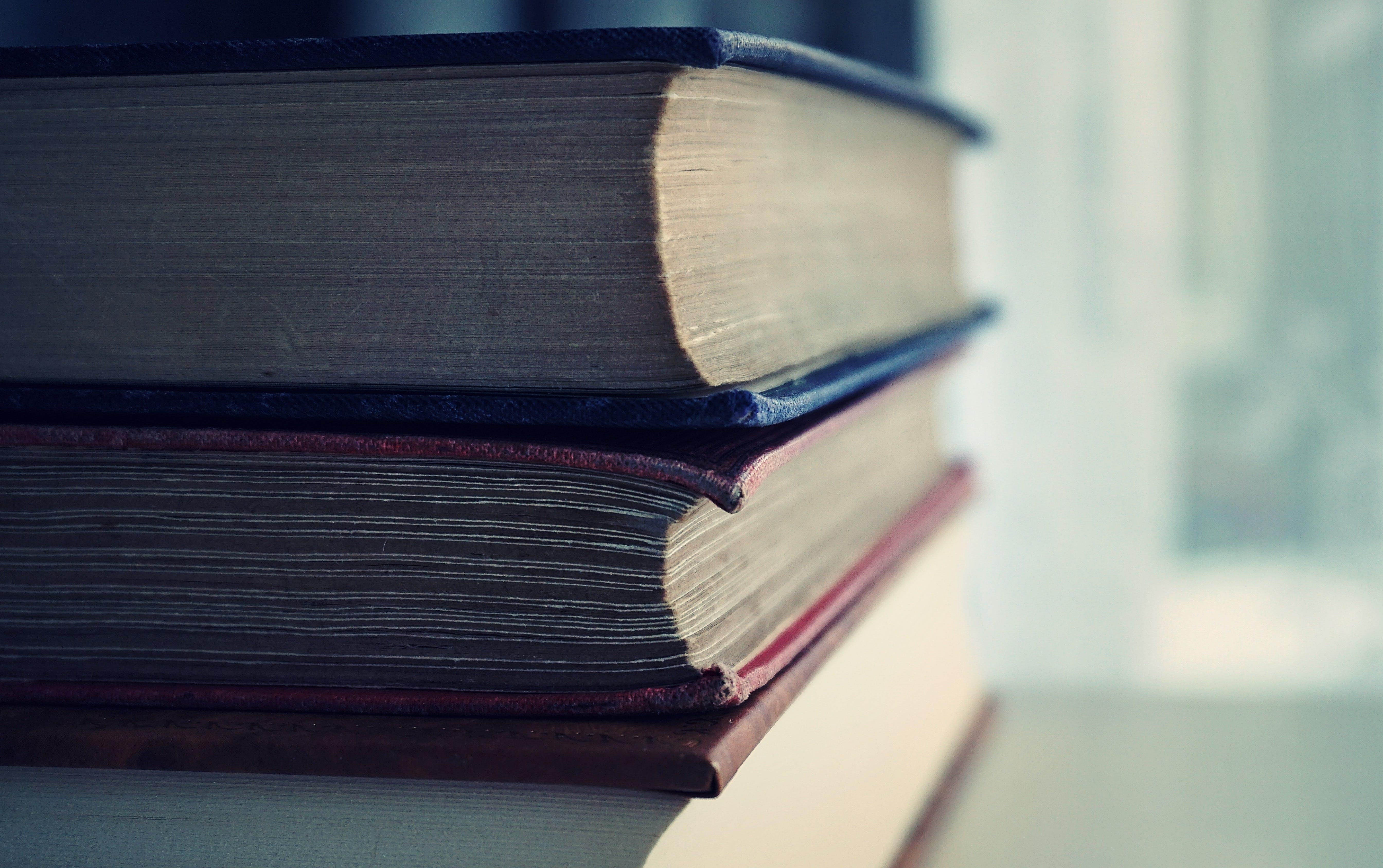 Free stock photo of books, stacked, macro