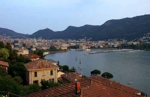 Free stock photo of city view, lake como, mountains