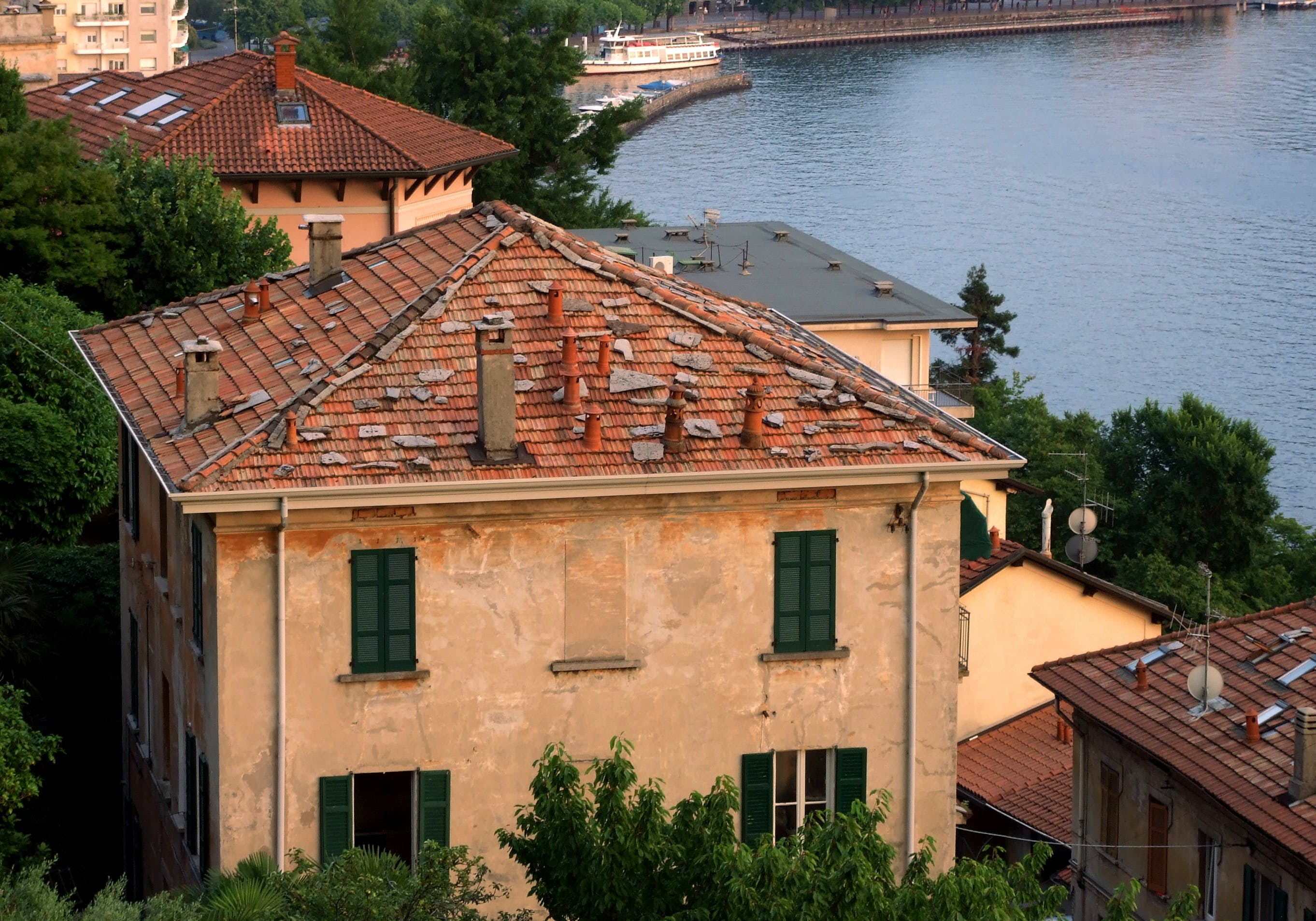 Free stock photo of house, lake como, rooftop