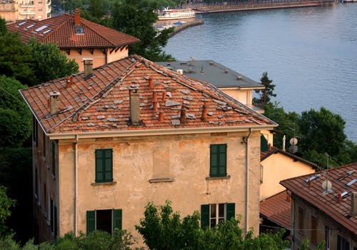 Free stock photo of lake como, rooftop