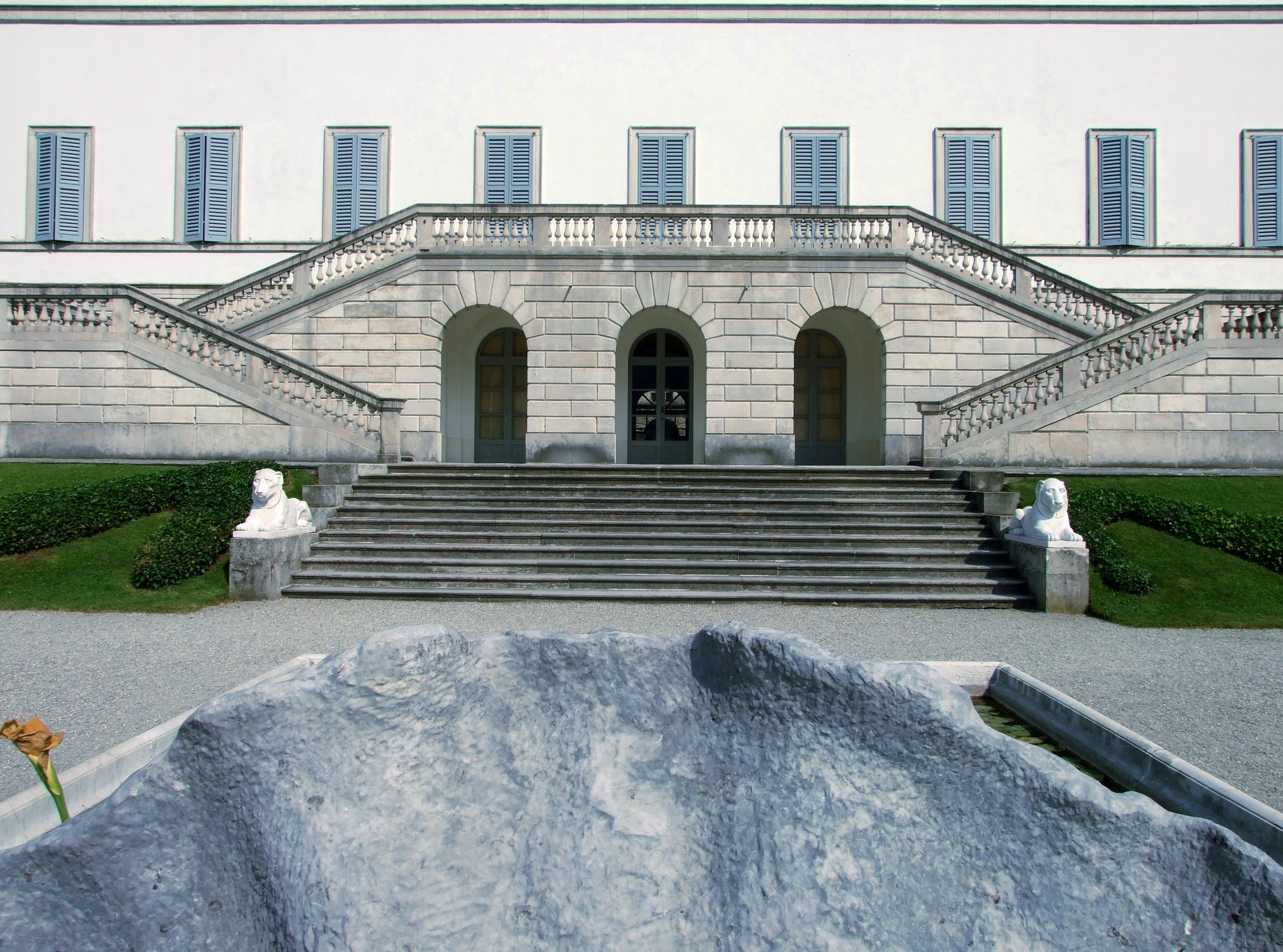 Free stock photo of stairs, stones, statues, villa