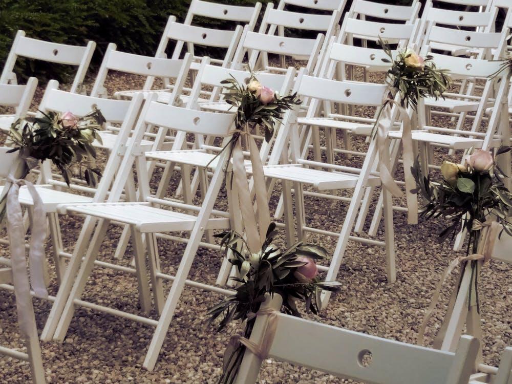 cadires, rams de flors