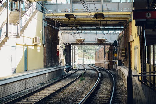 çelik, Demir, Demir yolu rayları, demiryolları içeren Ücretsiz stok fotoğraf