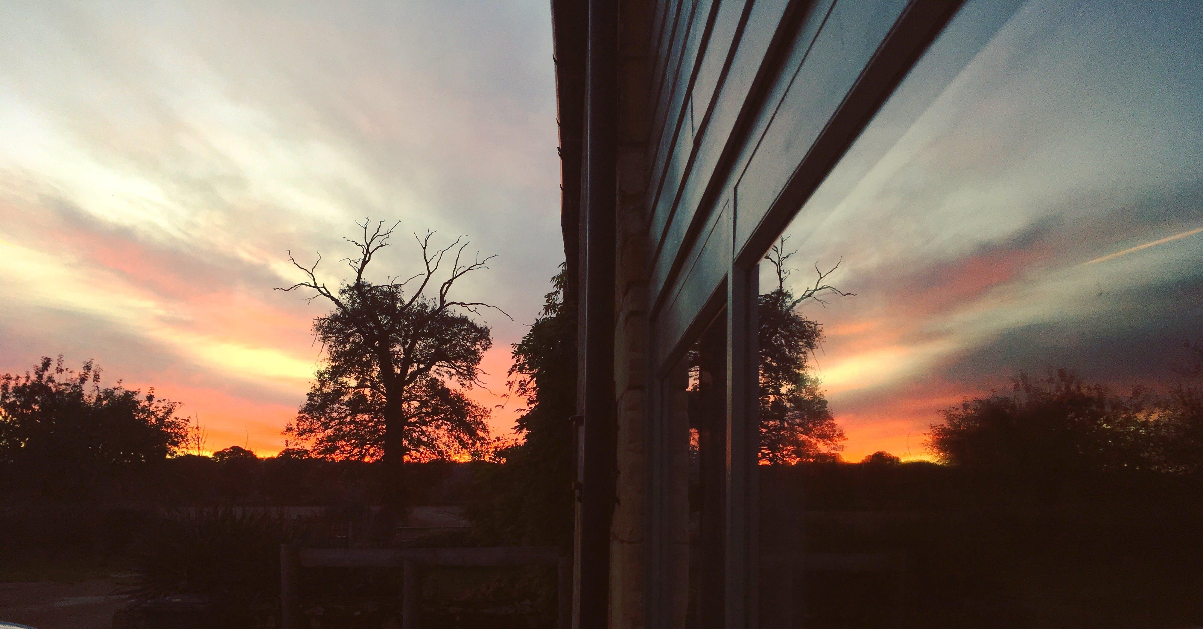 Free stock photo of Sunset Reflection
