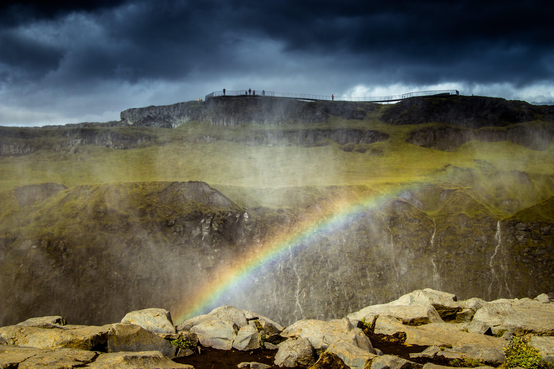 Photo of Mountain With Rainbow
