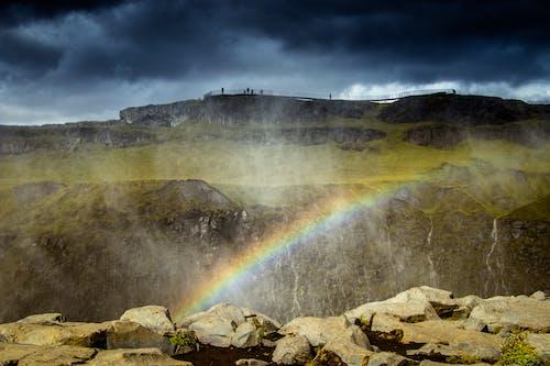 アイスランド, すごい, ミスト, 夕暮れの無料の写真素材