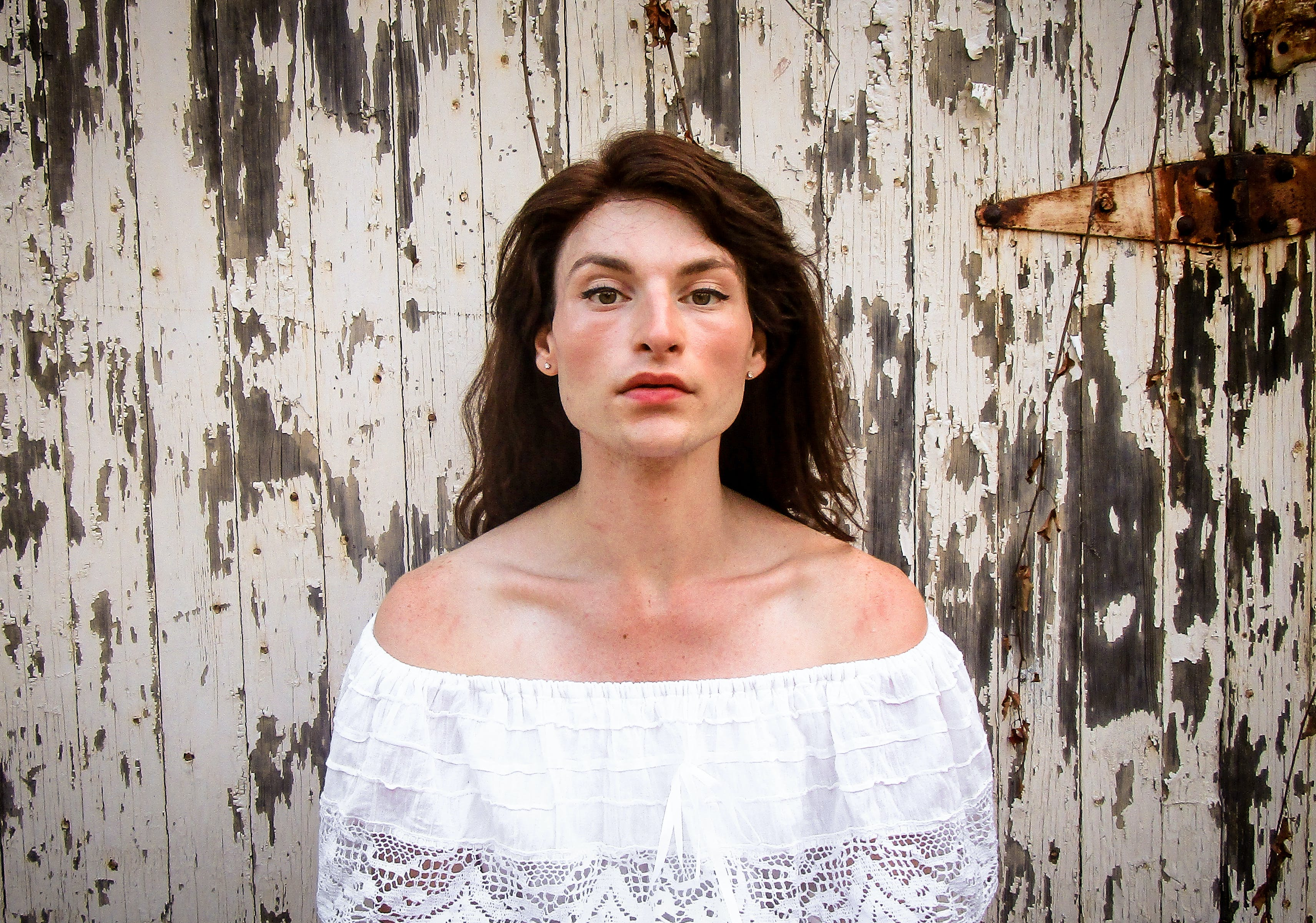 Woman Wearing White Off-shoulder Top