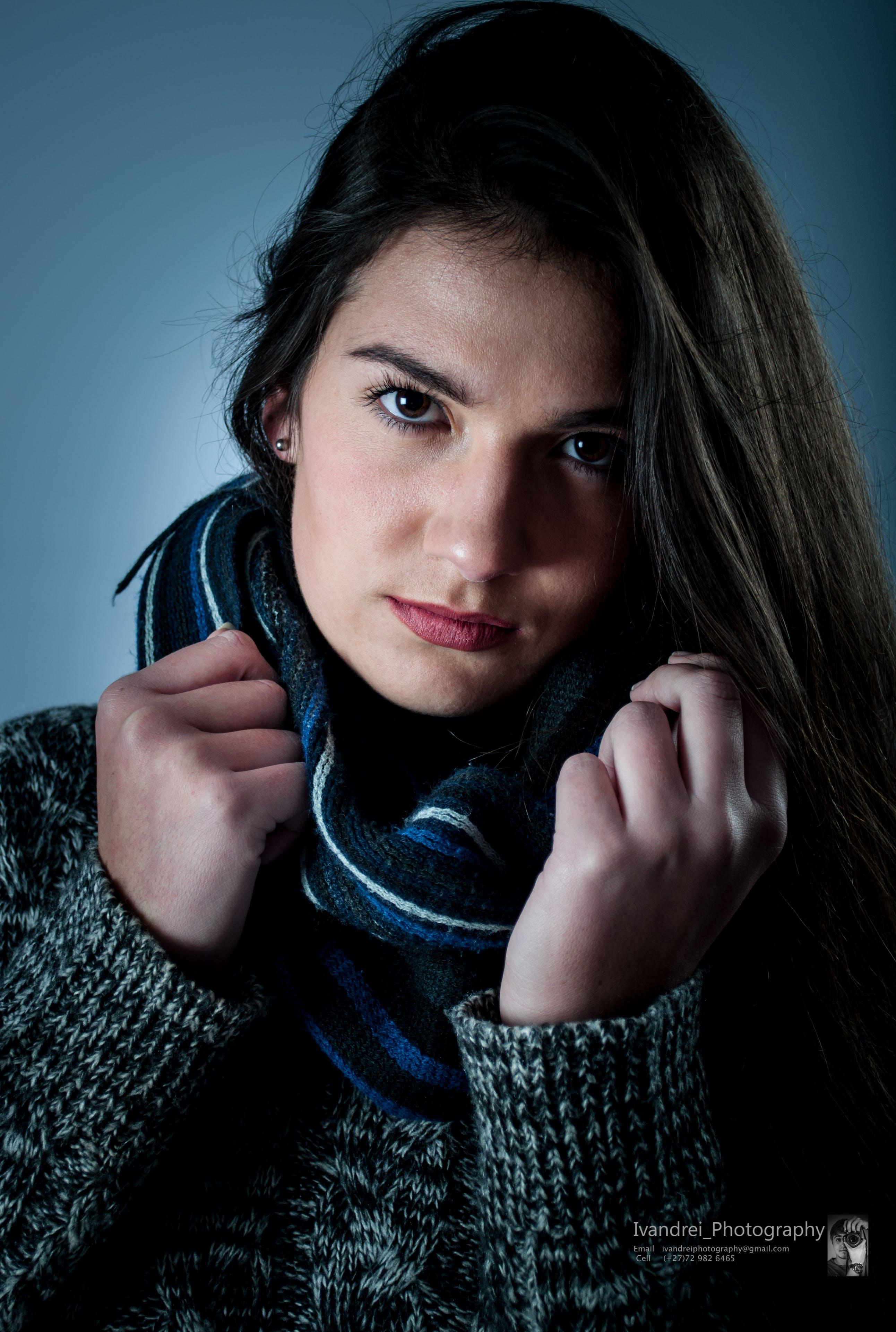 Free stock photo of girl, face, studio, beauty model