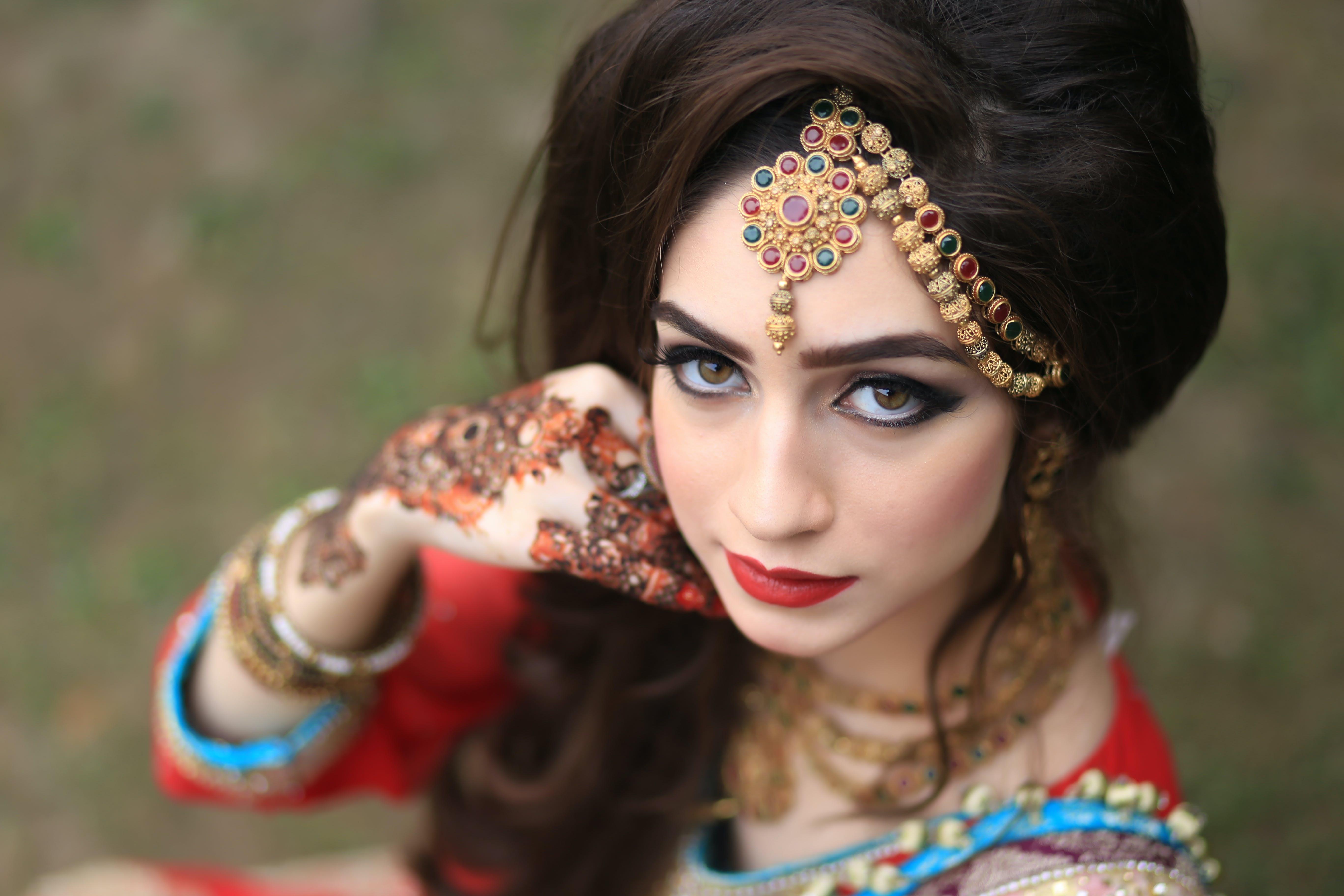 Woman Wearing Head Jewellery