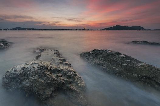 Kostenloses Stock Foto zu meer, landschaft, himmel, sonnenuntergang