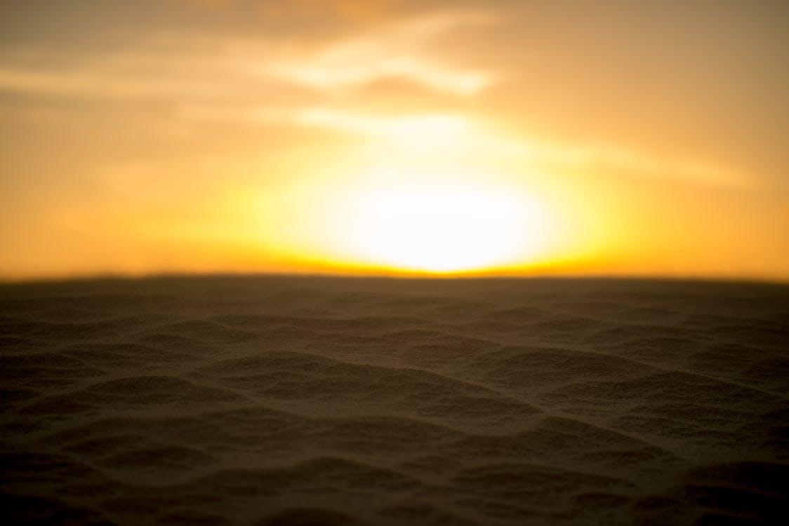 zand, zon, zonsondergang