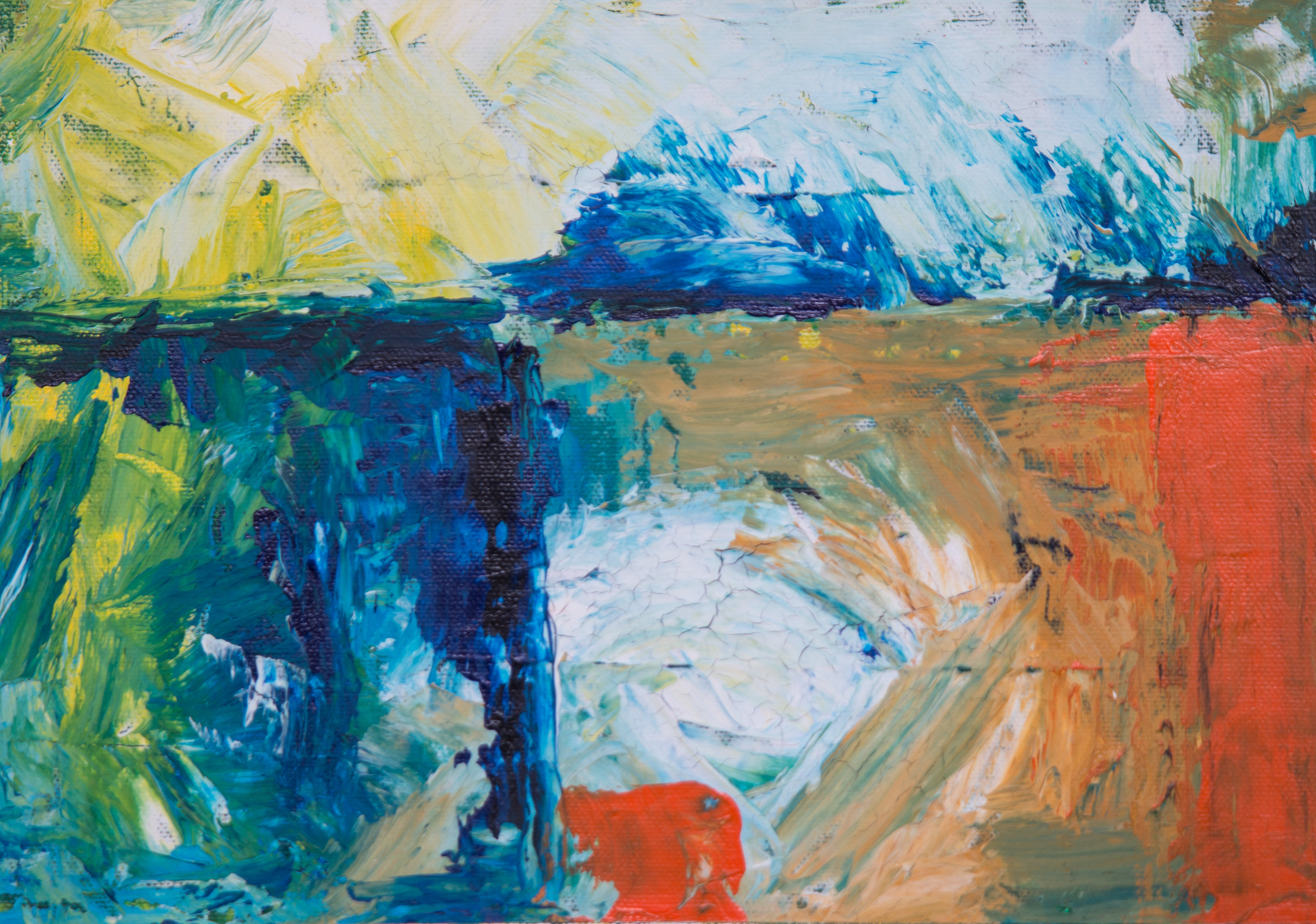 Close-up Photo of Multicolored Abstract Painting