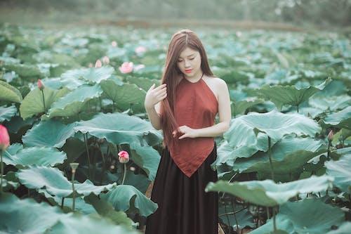 Gratis lagerfoto af agerjord, asiatisk kvinde, Asiatisk pige, bane