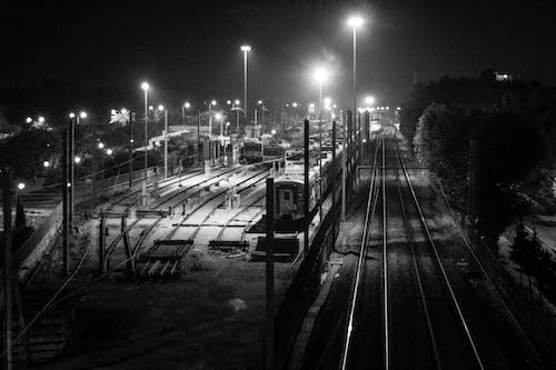 Imagine de stoc gratuită din alb-negru, antrena, comboios, instrui
