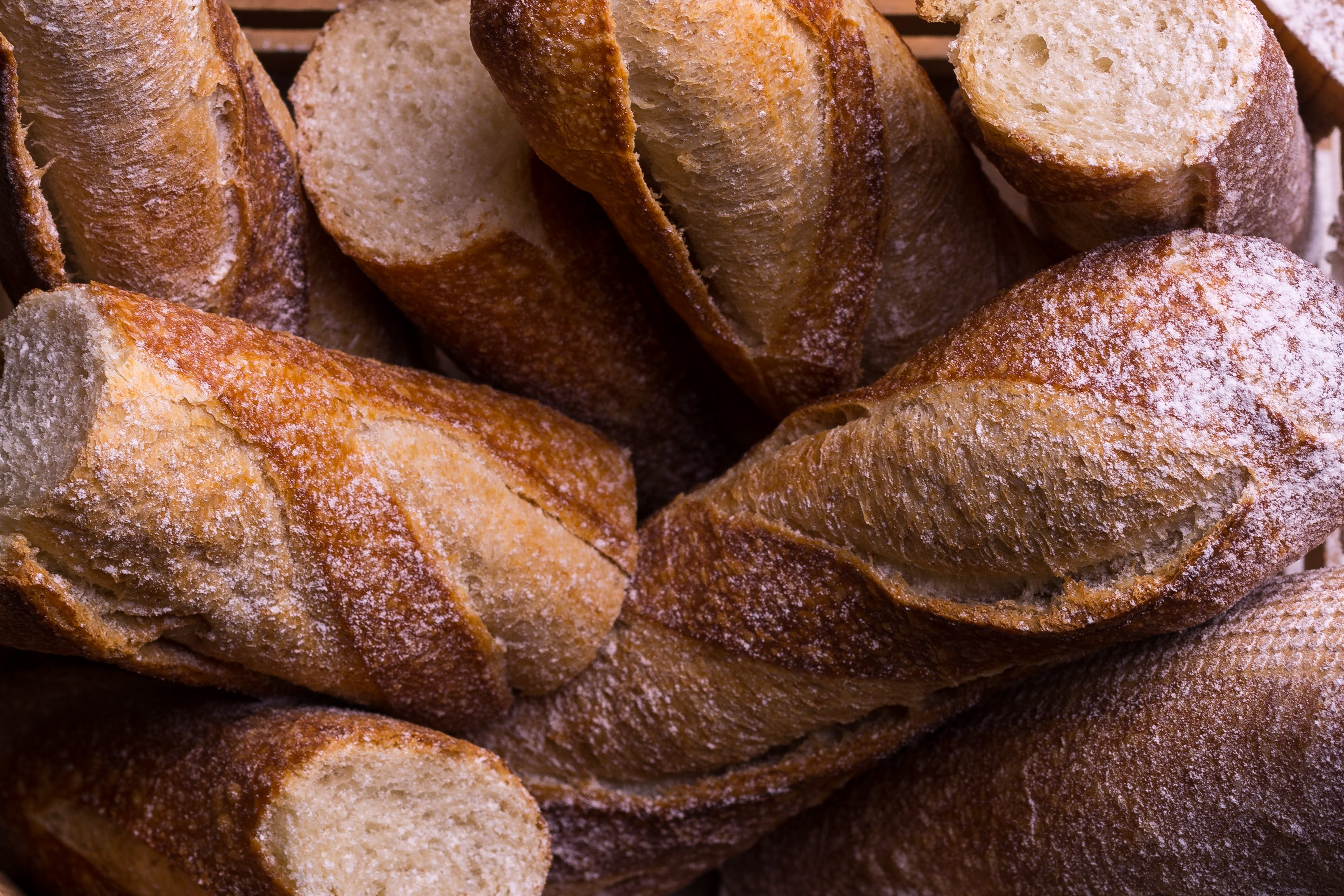 Close-up Photo of French Breads