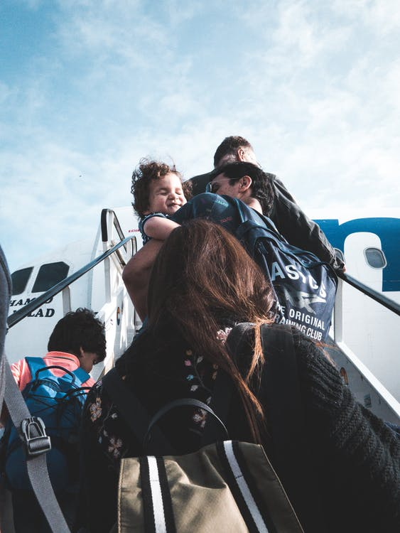 Travelling with kids via airplane - Air Travel Tips