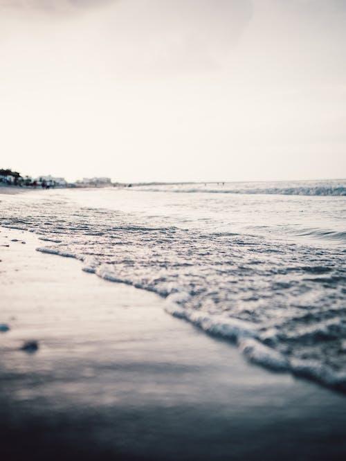 คลังภาพถ่ายฟรี ของ คลื่น, ชายหาด, ตะวันลับฟ้า, ทราย