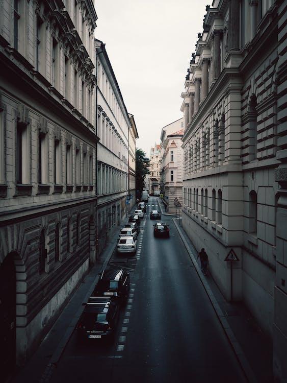 architektura, auta, budovy
