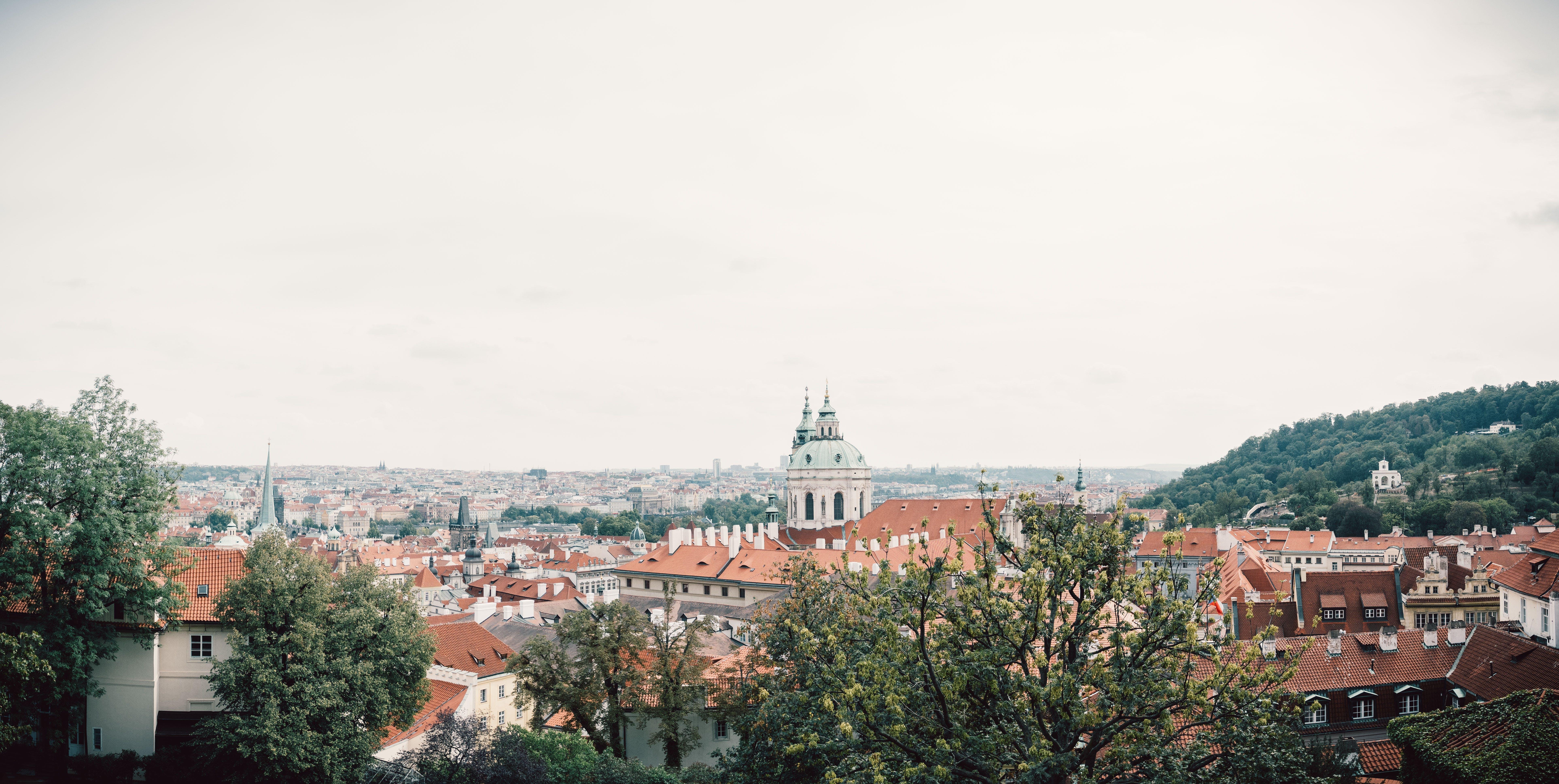 Panoramic Shot Of Town